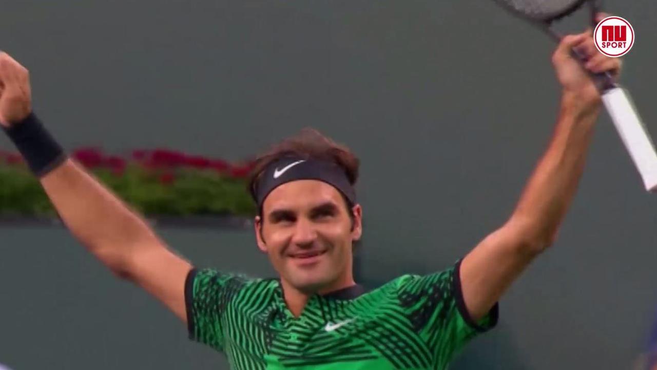 Federer wint voor derde keer op rij van rivaal Nadal