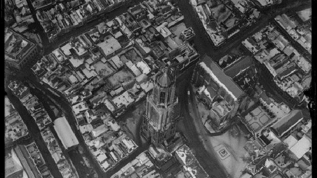 Zo zag een vooroorlogs Utrecht eruit vanuit de lucht