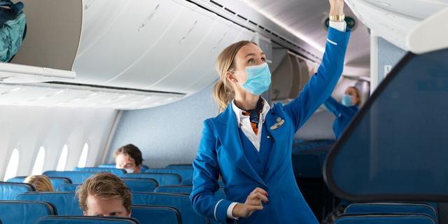 KLM: Risico van besmetting met virus aan boord vliegtuig is laag