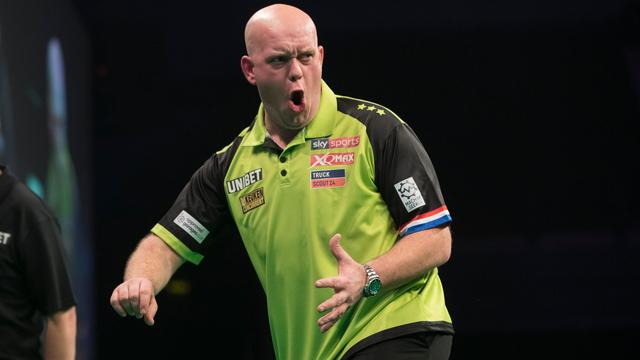 Van Gerwen ten koste van King naar halve finales World Grand Prix