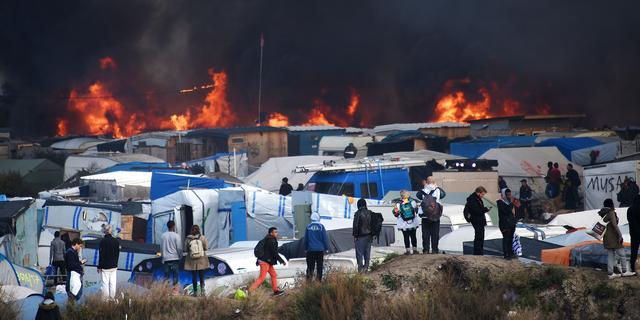 Alle vluchtelingen hebben kamp in Calais verlaten