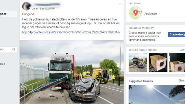 Foto's van verkeersongelukken misbruikt voor phishing via Facebook
