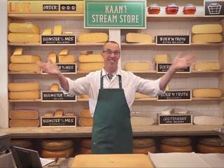 Kaaswinkel in Alkmaar verkoopt een week lang via een webcam op de site