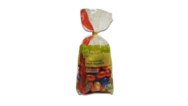 PLUS supermarkten roept paaseitjes terug wegens verpakkingsfout