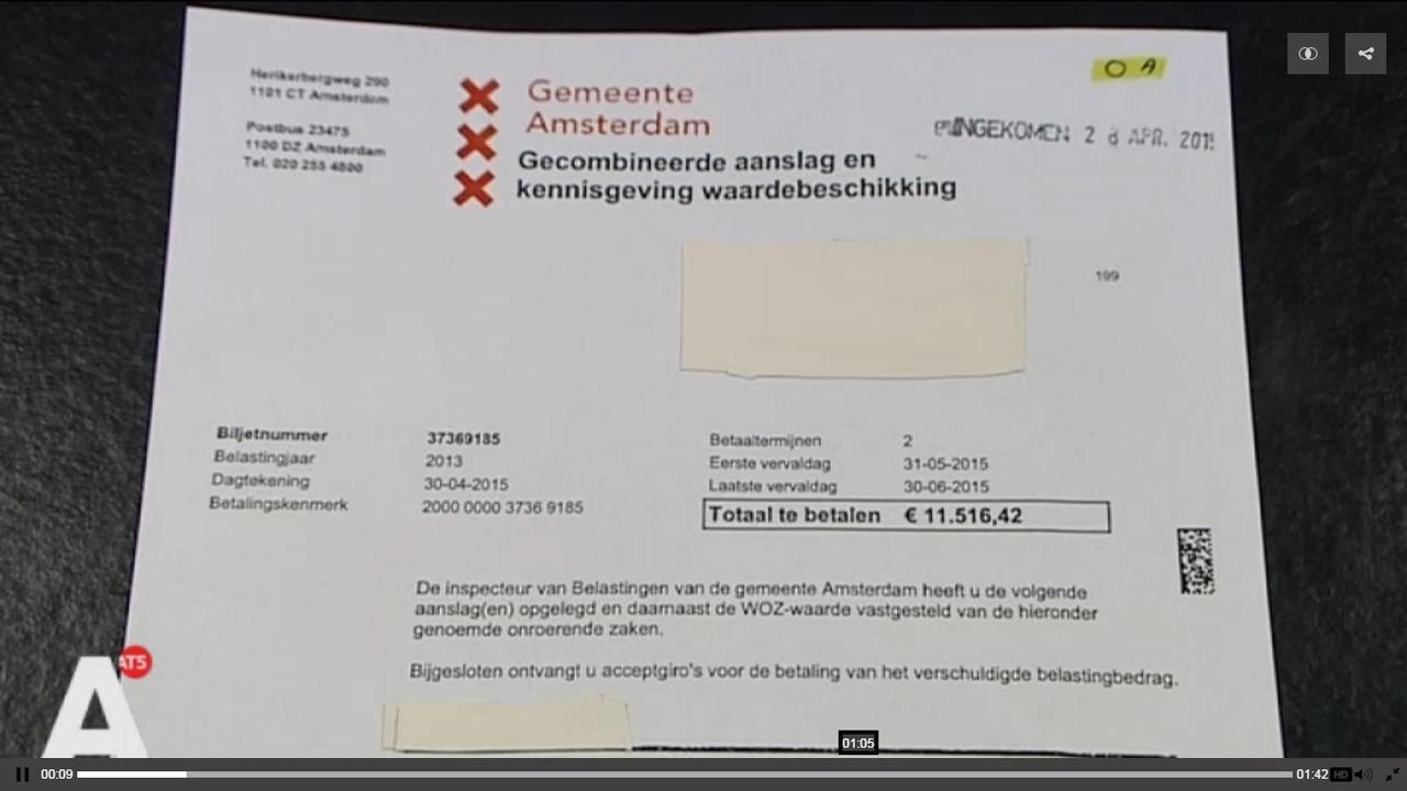 20.000 Amsterdammers klagen bij Dienst Belastingen