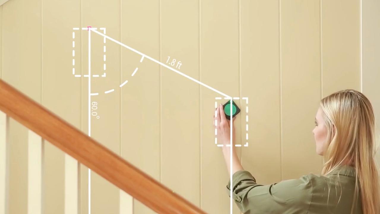 Apparaatje meet afstanden met bewegingssensoren