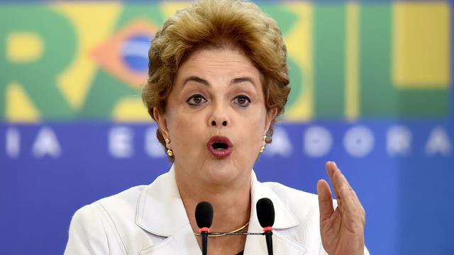 Braziliaanse president Rousseff noemt mogelijke afzetting 'samenzwering'