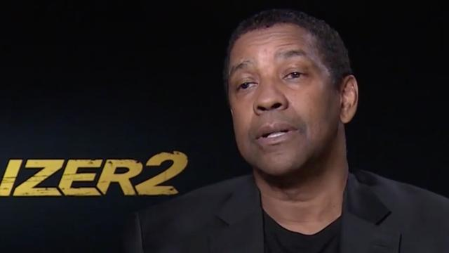 'Denzel Washington instagramde tijdens scène The Equalizer 2'
