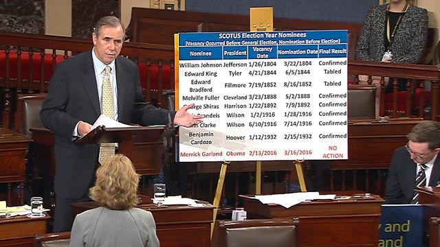 Democraat speecht vijftien uur in Senaat VS tegen Gorsuch