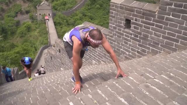 Deelnemers trotseren duizenden treden bij marathon Chinese Muur
