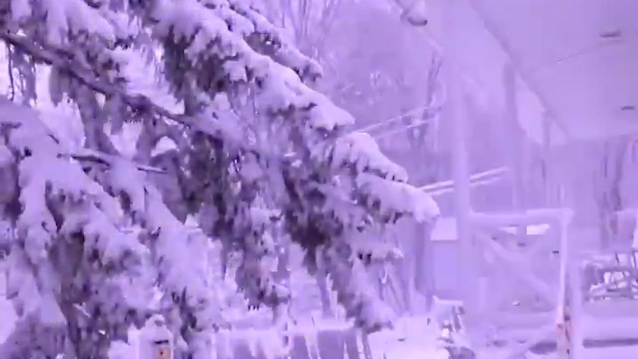 Zeldzame 'dondersneeuw' in VS