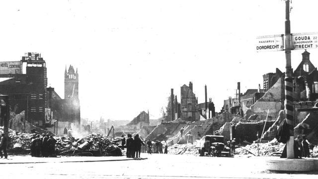 Rotterdam 79 jaar geleden gebombardeerd door Duitsers