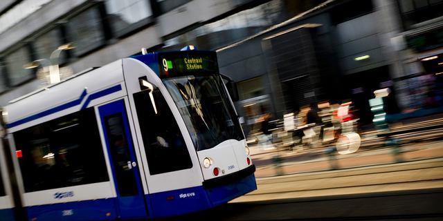 Twee trams botsen op elkaar op Marnixplein