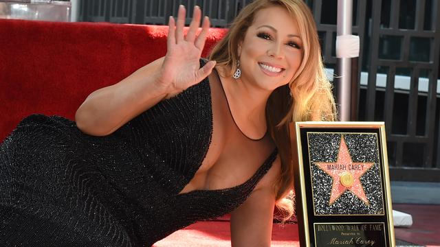 Mariah Carey onthult ster op Hollywood Walk of Fame