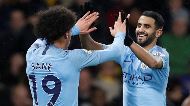 City zet zegereeks voort bij Watford, goal Kongolo baat Huddersfield niet