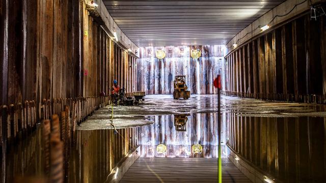 Zo ziet de nieuwe tunnel onder het Anne Frankplein er nu uit
