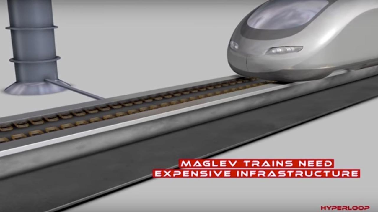 Extreem snelle Hyperlooptrein gebruikt techniek voor magneetzweeftreinen
