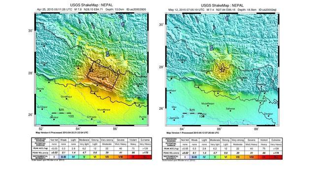 'Nieuwe beving Nepal is gevolg van vorige beving'