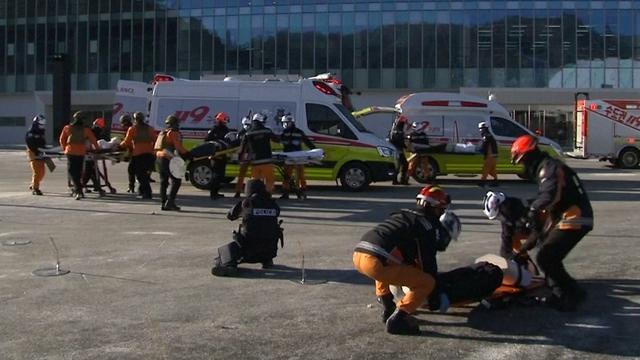 Grote terreuroefening in Zuid-Korea ter voorbereiding op Winterspelen