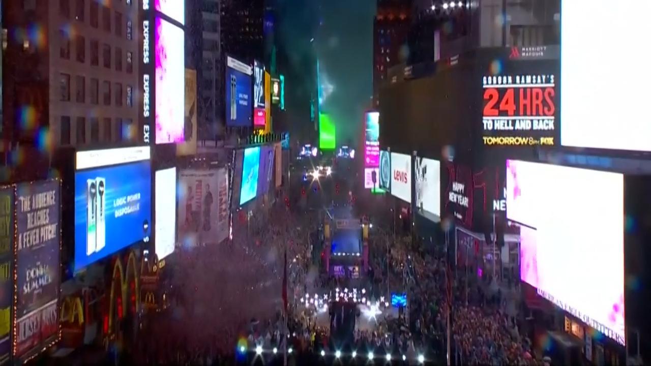 New York's Times Square viert Oud en Nieuw