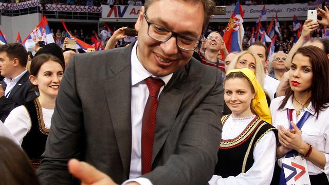 Premier Vucic verkozen tot president Servië