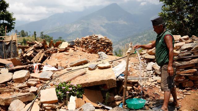 Doden door aardverschuivingen in Nepal