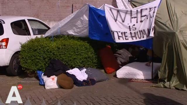 Circa vijftig asielzoekers Havenstraat in asielprocedure