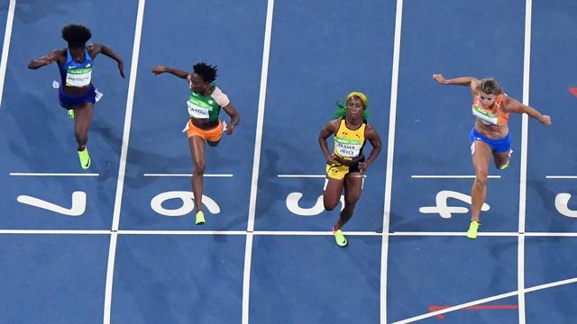 Schippers met derde tijd door naar finale 100 meter