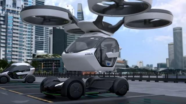 Vliegtuigbouwer Airbus toont drone die auto op kan pikken