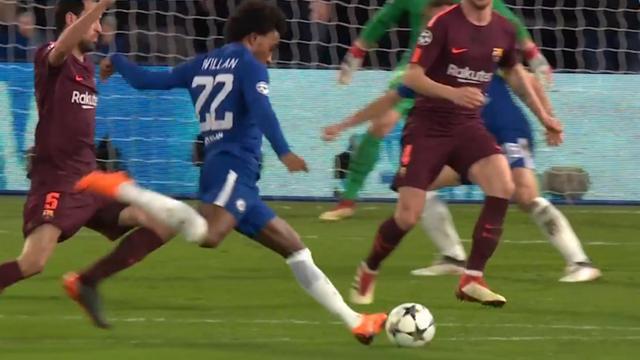 Samenvatting Chelsea-FC Barcelona (1-1)