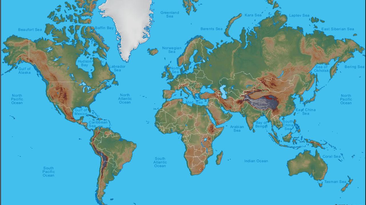 de wereld kaart Dit is de wereldkaart die we allemaal kennen, maar daar klopt niks