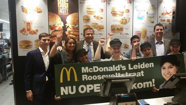 Proef met ruimere openingstijden McDonald's Rooseveltstraat