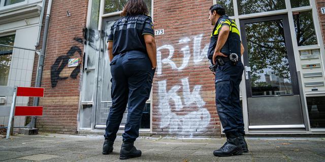 Kantoor van belangenorganisatie COC Rotterdam beklad met homofobe teksten
