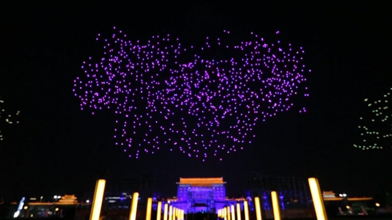 1.400 drones geven tijdens Dag van de Arbeid lichtshow in China