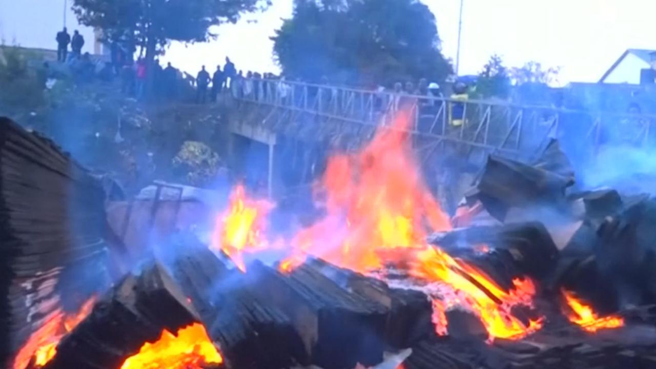 Dodelijke brand verwoest grote markt in Nairobi