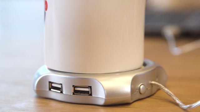 Prul of Praal? USB-warmhoudplaatje van 3 euro
