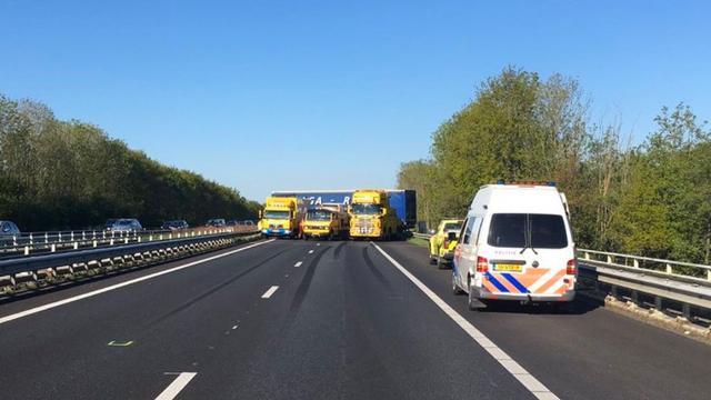 File op A7 tussen Groningen en Heerenveen door ongeluk opgelost