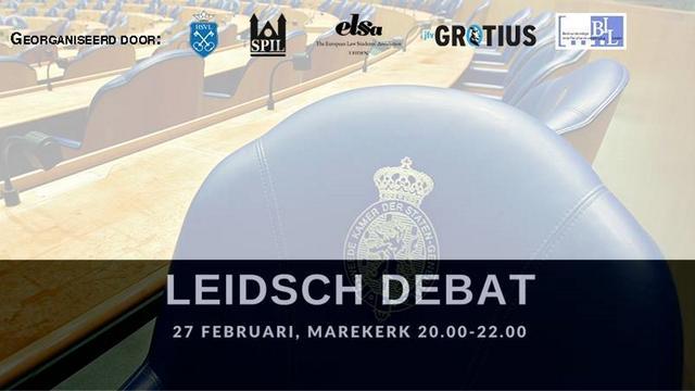 Leidse studieverenigingen organiseren Leidsch Debat in Marekerk