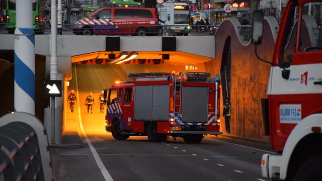 Loos brandalarm Stationspleintunnel zorgt voor lange file