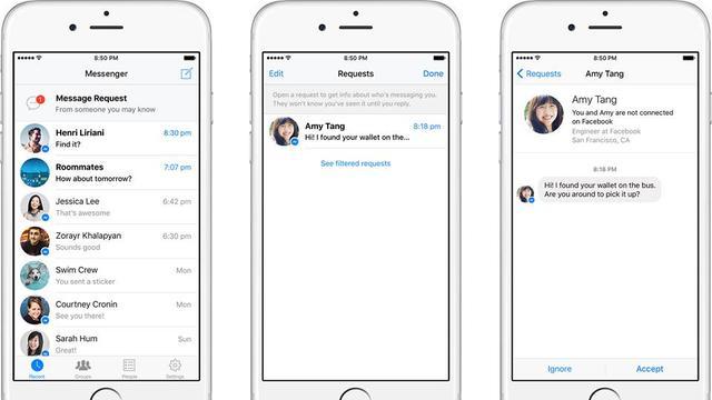 Facebook Messenger gaat chatverzoeken van vreemden sturen