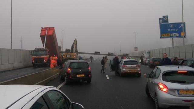 A9 weer open na dodelijk ongeval.