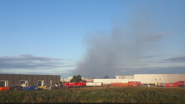 Rookoverlast bij grote brand milieudepot in Den Helder