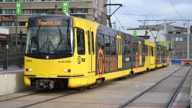 Tramverkeer in Utrecht tijdelijk stil door ijzelvorming bovenleiding