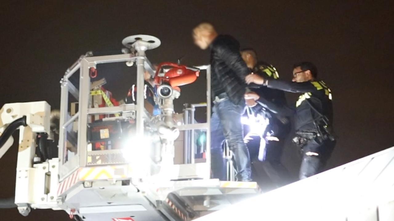Vluchtende inbreker van dak geplukt door politie in Delft