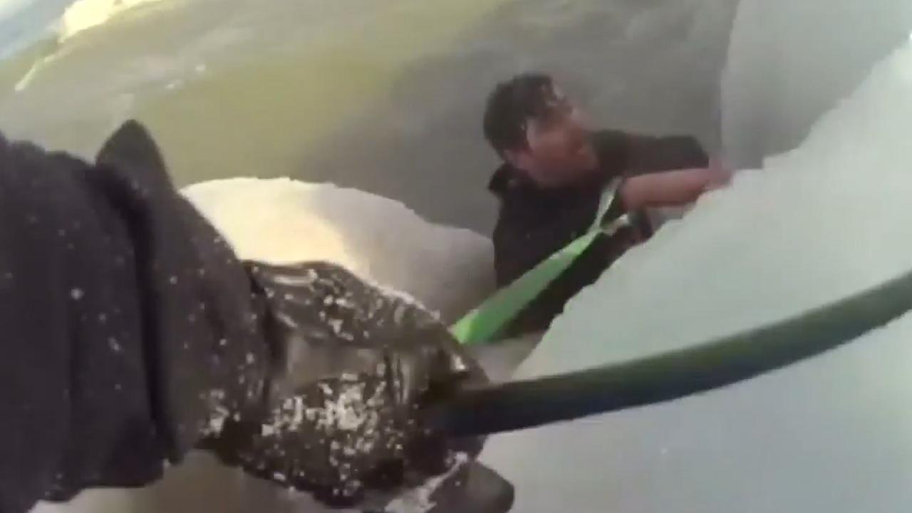 Agents Rescue Man From Freezing Water Lake Michigan International News