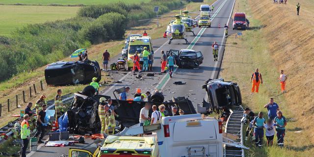 Zeven gewonden bij ongeval op N50 bij Kampen