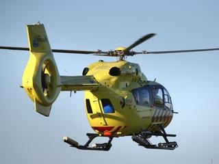 Traumahelikopter ter plaatse