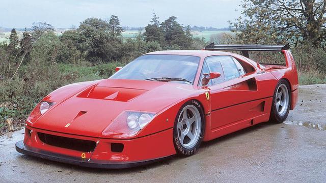Zeldzame Ferrari F40 LM duikt op in Londen