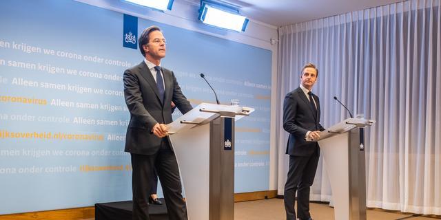 Dit waren de hoofdpunten van de persconferentie van Rutte en De Jonge