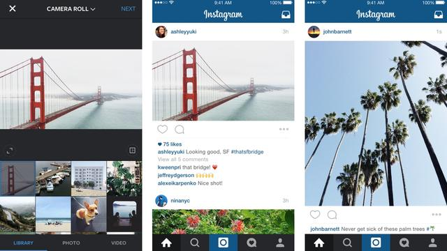 Instagram staat voortaan foto's en video's in breedbeeld toe